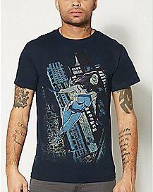 In Flight Jessica Jones T Shirt - Marvel Comics