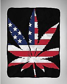 Leaf Flag Fleece Blanket