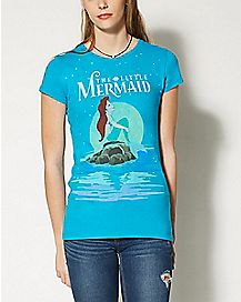Starry Night Ariel The Little Mermaid T shirt