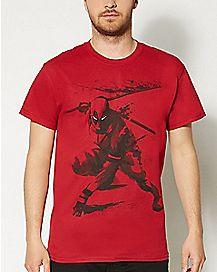 Deadpool Marvel Sword Slash T shirt