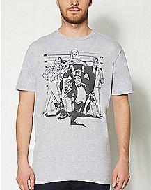 Character Mug Shot Villain Group DC Comics T Shirt