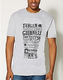 Guinness Glass Text T Shirt