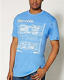 Schematics Batmobile DC Comics  T shirt