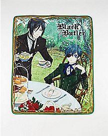 Black Butler Afternoon Tea Fleece Blanket