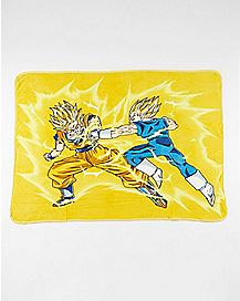 Goku Vs Vageta Dragon Ball Z Fleece Blanket