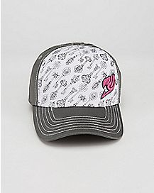 Grey and White Fairy Tail Lucky Key Hat