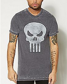 Skull Burnout Punisher Marvel T shirt