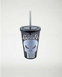 Marvel Punisher Cup with Straw - 16 oz.