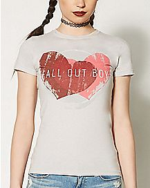 Red Hearts Fall Out Boy T shirt