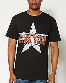 Captain America Civil War Marvel Star T shirt