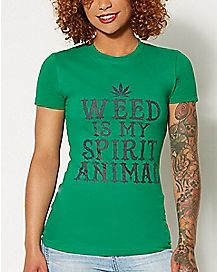 Weed Is My Spirit Animal T shirt