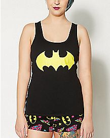 Batman Superman Logo Pajama Set