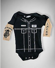 Samcro Sons of Anarchy Fake Tattoo Bodysuit