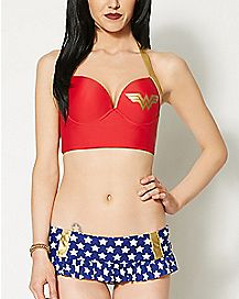 Retro Wonder Woman Halter Bikini Swimsuit