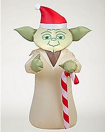 3.5 Ft Festive Yoda Inflatable Decoration - Star Wars