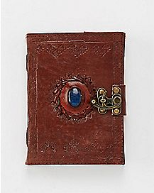 Stone Eye Leather Journal with Lock