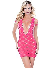 Seamless Stocking Dress - Pink