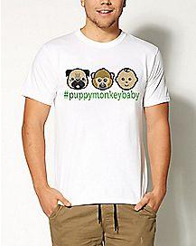#PuppyMonkeyBaby Emoji T shirt