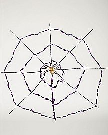 Purple Spider Web Light Set - Decorations