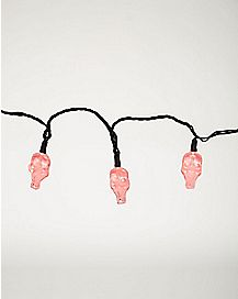 Red Skull LED String Lights - Decorations