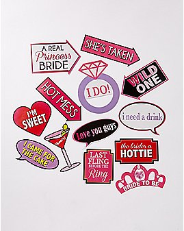 Bachelorette Photo Prop Set