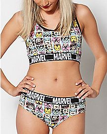 Characters Marvel Bralette and Panty Set