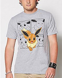 Eevee Panels Pokemon T-Shirt