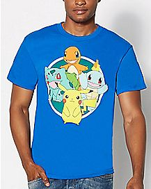 Group Circle Pokemon T Shirt
