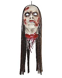 2 Ft Hanging Woman Zombie Head - Decorations
