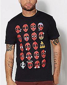 Emoji Deadpool Marvel T shirt