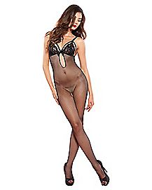 Fishnet Keyhole Bodystocking