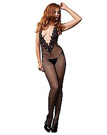 Fishnet Chantilly Lace Bodystocking
