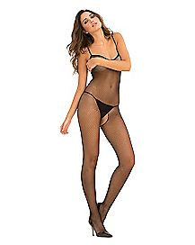 Fishnet Criss Cross Crotchless Bodystocking
