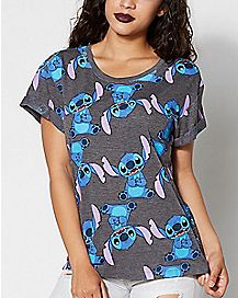 Stitch All Over Print T Shirt - Lilo & Stitch