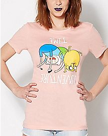 Upside Down Adventure Time T shirt