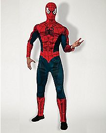 Adult Spiderman Costume Deluxe - Marvel