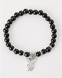 Dangle Bead Playboy Bunny Bracelet