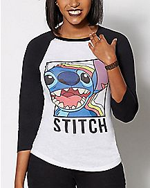 Stitch Retro Shadow T Shirt - Lilo & Stitch