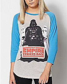 Empire Strikes Back Star Wars Raglan T shirt