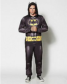 Adult Hooded Batman One-Piece Pajamas
