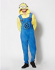 Adult Hooded Despicable Me One-Piece Pajamas