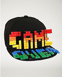 Rainbow Brick Blocks Snapback Hat