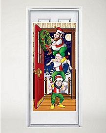 5 Ft Christmas Elves Door Cover - Decorations