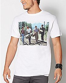 Men In A Line Stand By Me T Shirt