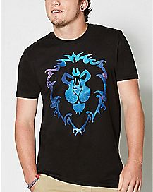 Logo Alliance World of Warcraft Fill Crown T Shirt