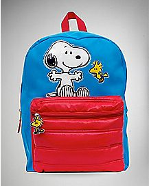 Peanuts Puffed Pocket Backpack