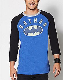 Logo Batman Raglan T Shirt