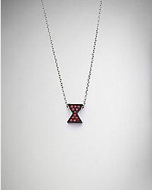 Logo Black Widow Gem Necklace