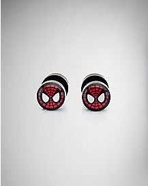 18 Gauge Spiderman Marvel Fake Plugs