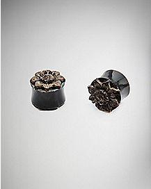 Horn Flower Wooden Plugs